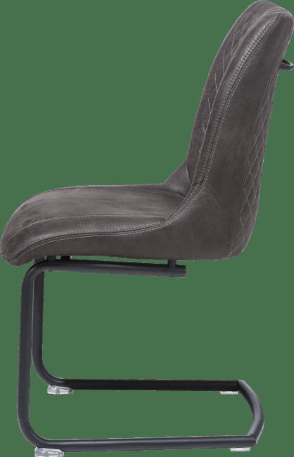 Armin - chaise + poignee ronde - cadre off black - tissu secillia