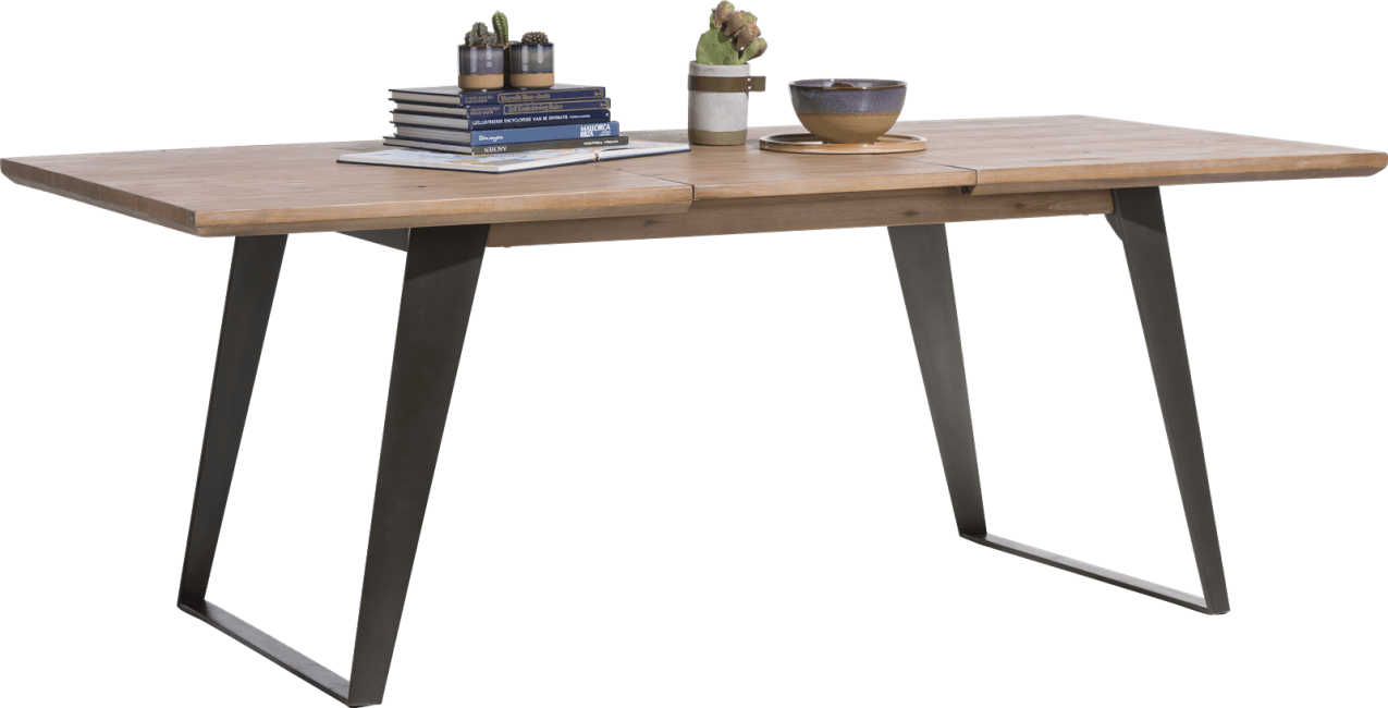 Box - table a rallonge 160 (+ 50) x 100 cm - pied carre