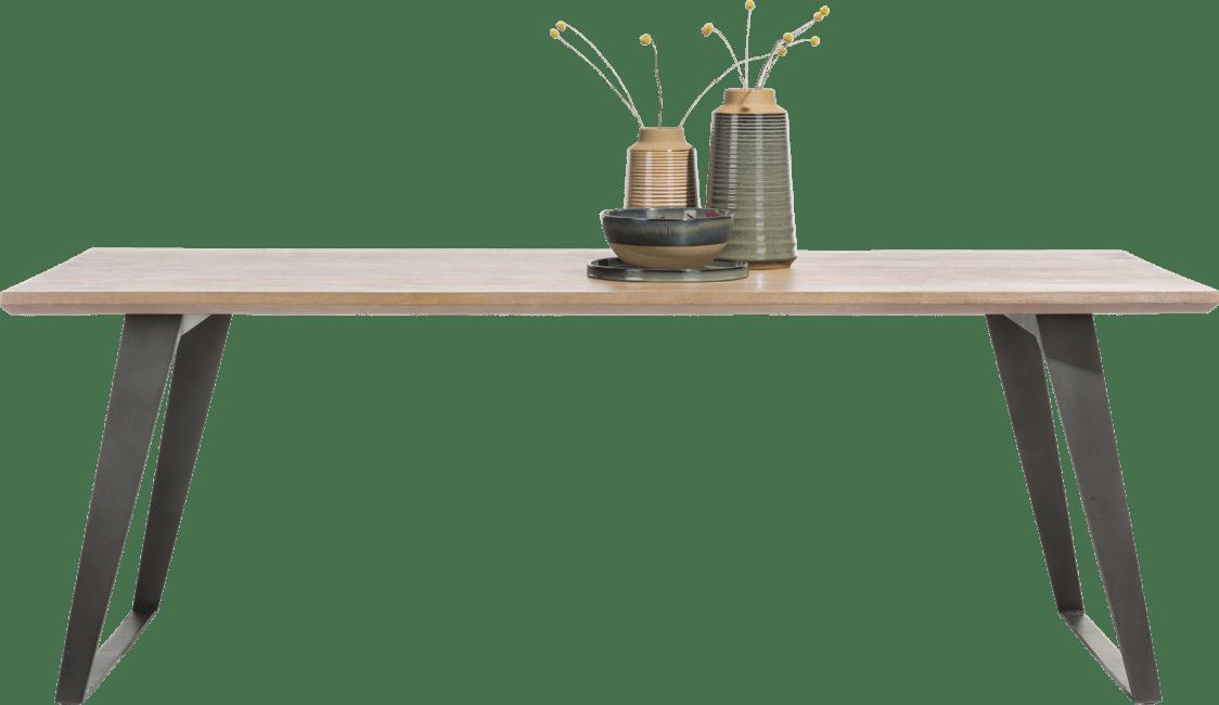 Box - tisch 220 x 100 cm - fuss viereckig