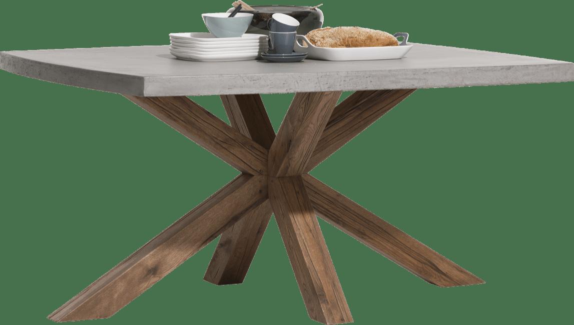 Maestro - eetkamertafel 150 x 130 cm - beton blad