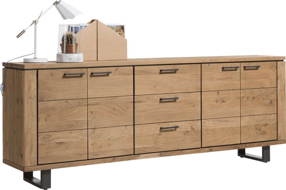 Quebec - dressoir 240 cm - 4-deuren + 3-laden