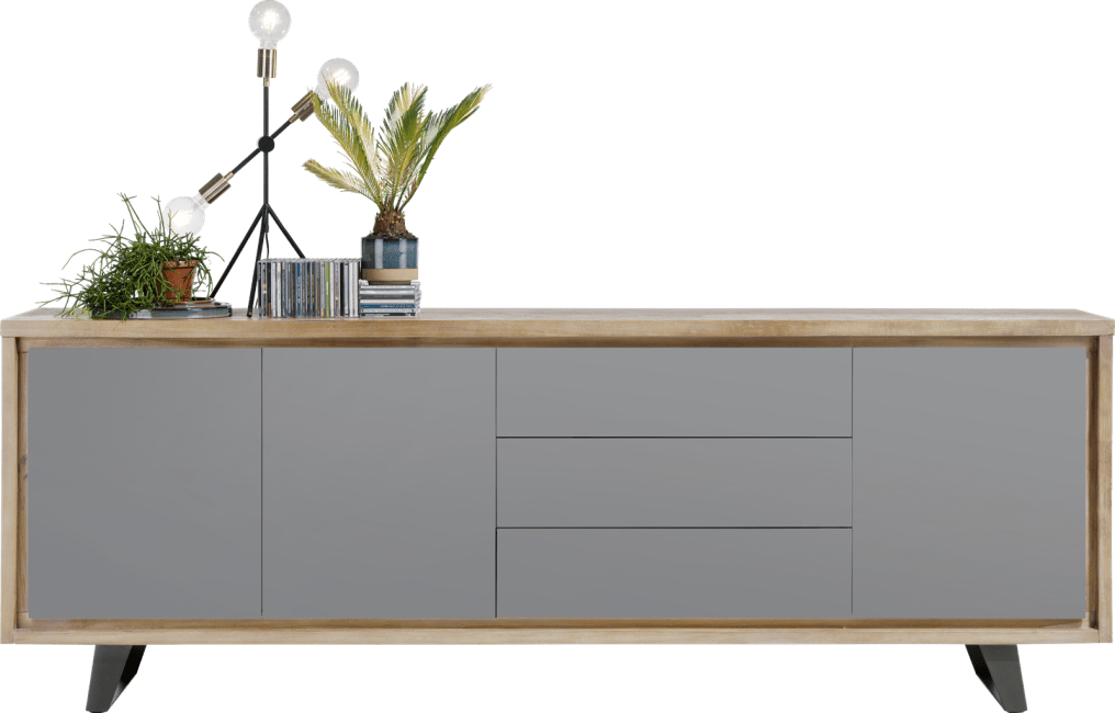Box - sideboard 240 cm - 3-tueren + 3-laden