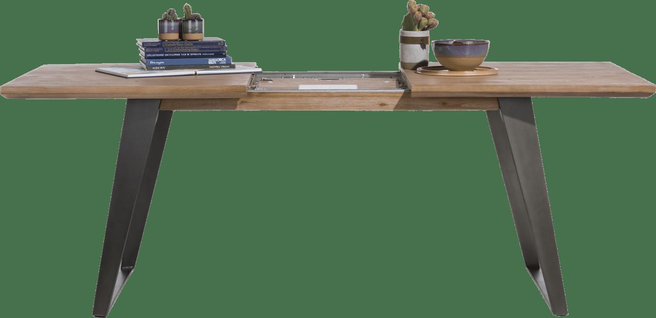 Box - ausziehtisch 190 (+ 60) x 100 cm - fuss viereckig
