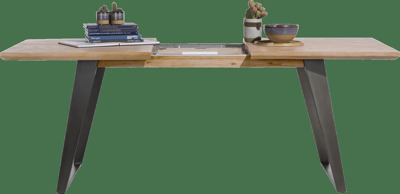 Box - uitschuiftafel 160 (+ 50) x 100 cm - vierkante poot