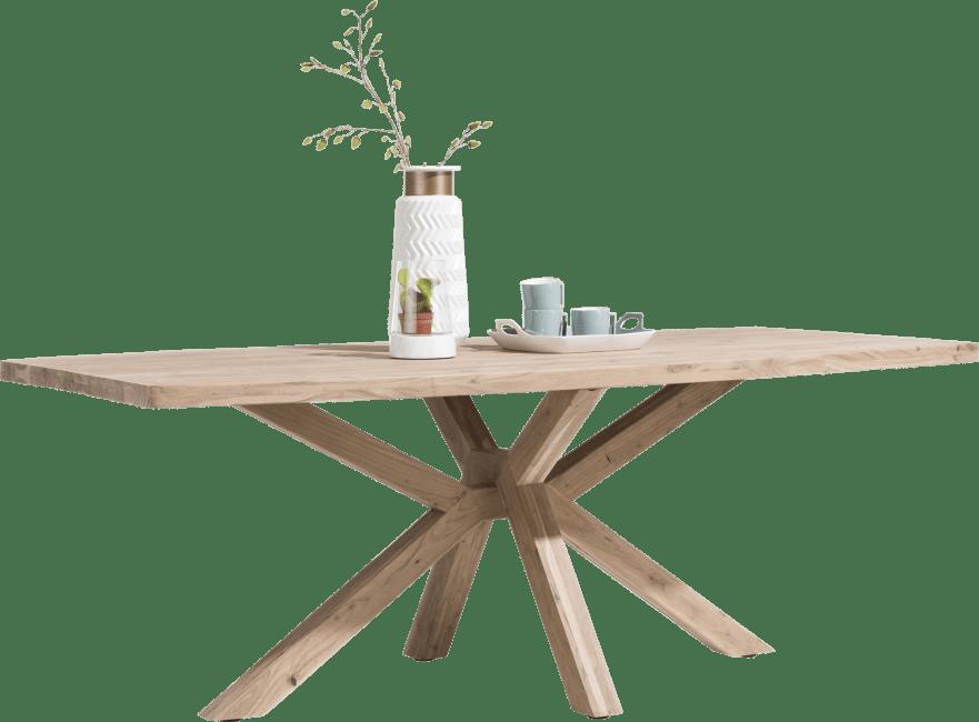 Quebec - eetkamertafel 240 x 110 cm - houten poten