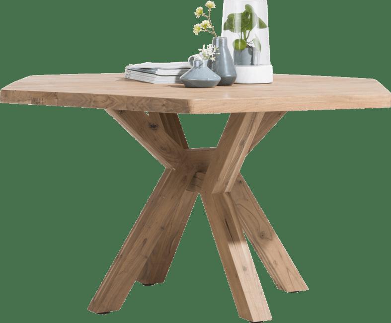 Quebec - eetkamertafel 150 x 130 cm - houten poot