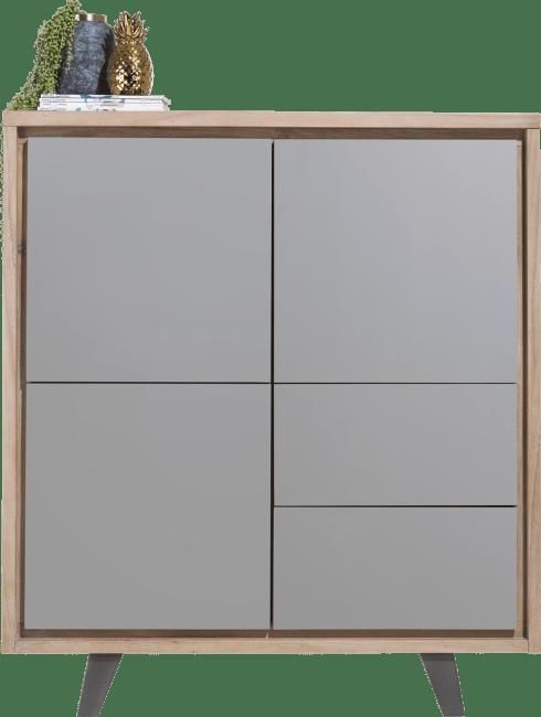 Box - bergkast 125 cm - 3-deuren + 2-laden