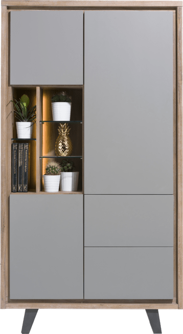 Box - armoire 110 cm - 3-portes + 2-tiroirs + 5-niches (+ led)