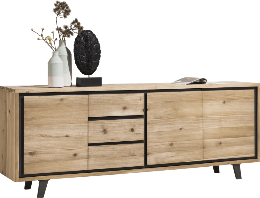 Prato - dressoir 240 cm - 3-deuren + 3-laden