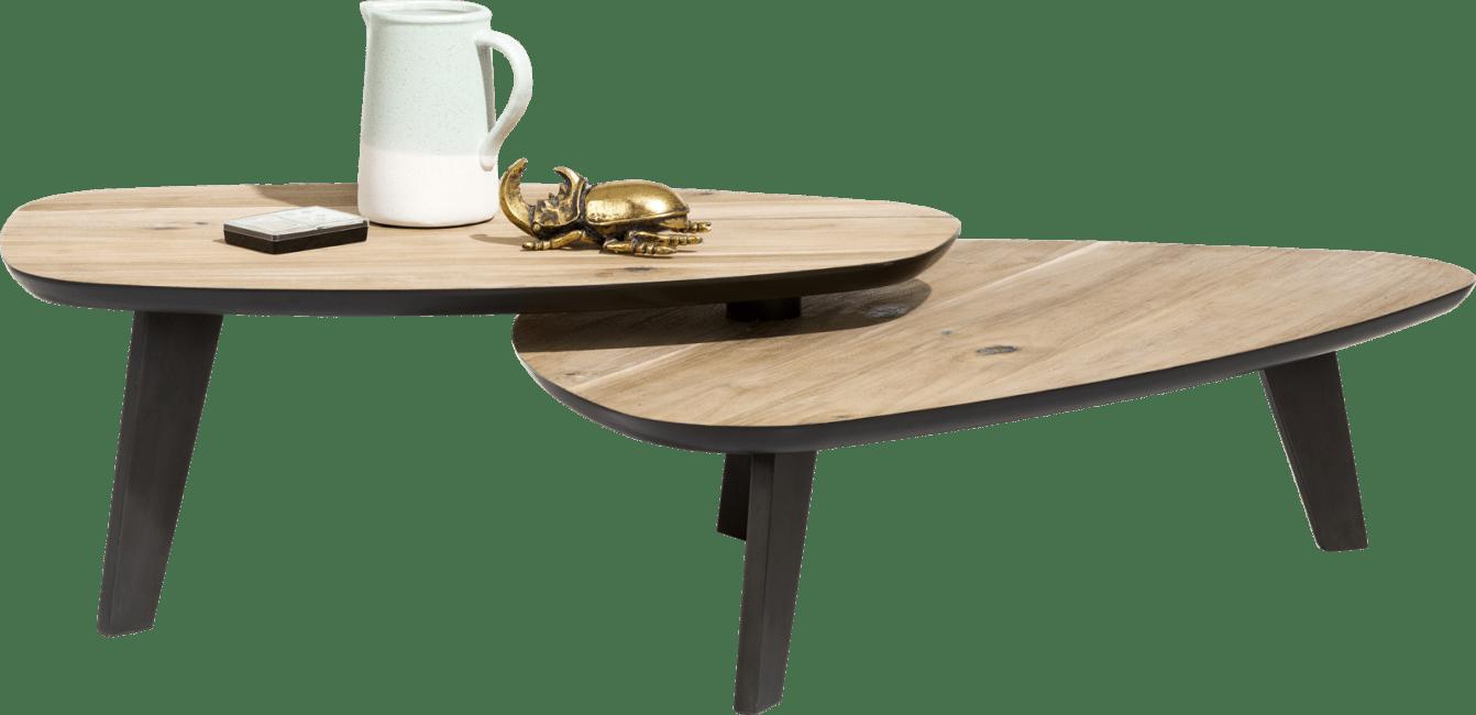 Meuble H Et H prato table basse - 2 parties - environ 115 x 90 cm & 102 x 61,5 cm