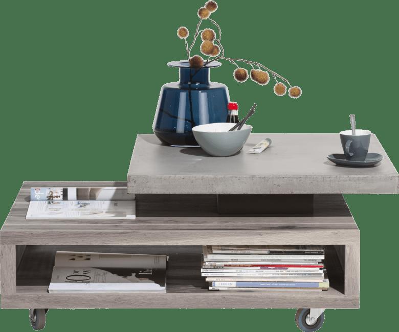 Maitre - salontafel 90 x 70 cm - met draaiblad