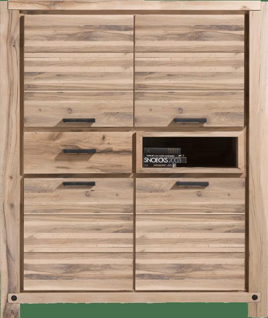 Maitre - bergkast 140 cm - 4-deuren + 1-lade + 1-niche (+ led-spot)