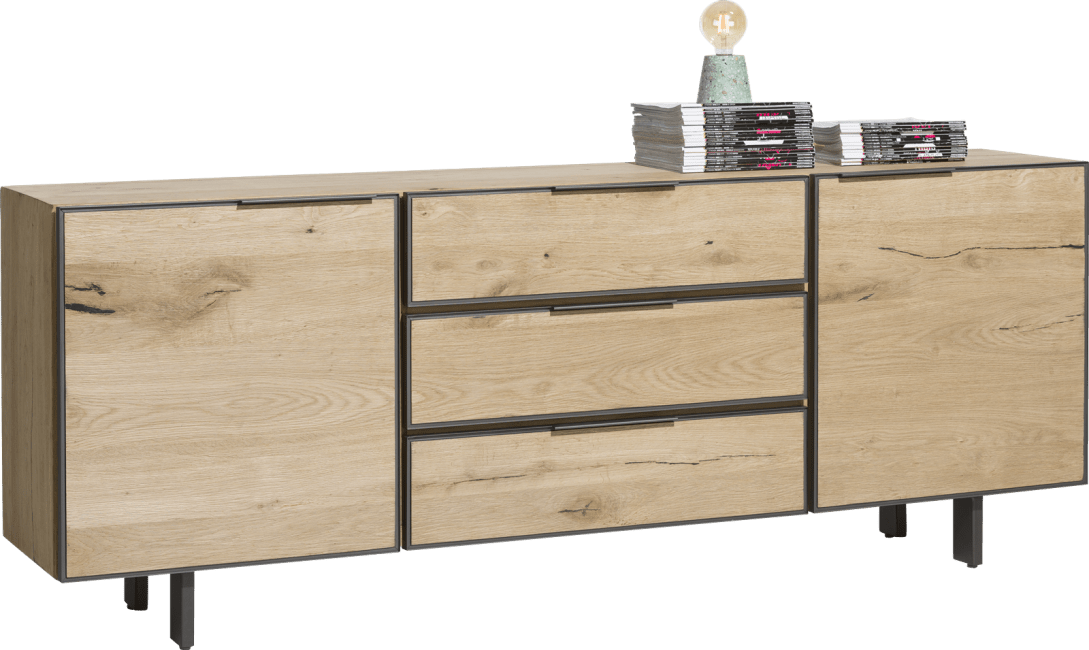 Pedro - dressoir 210 cm - 2-deuren + 3-laden