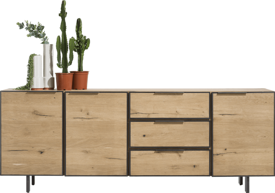 Pedro - dressoir 240 cm - 3-deuren + 3-laden