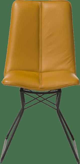 Lito - stuhl - metall gestell farbe off black - pegasso zenf / steelblue