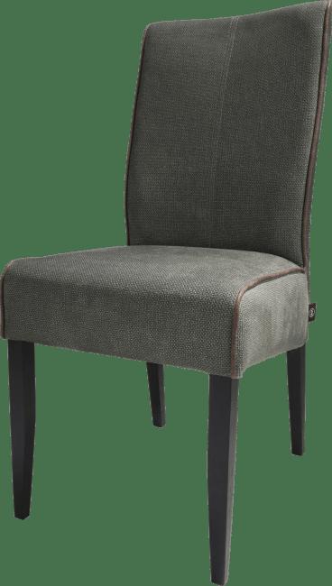 Lotte - chaise - pieds en hetre noir - tissu miami vert / ocre