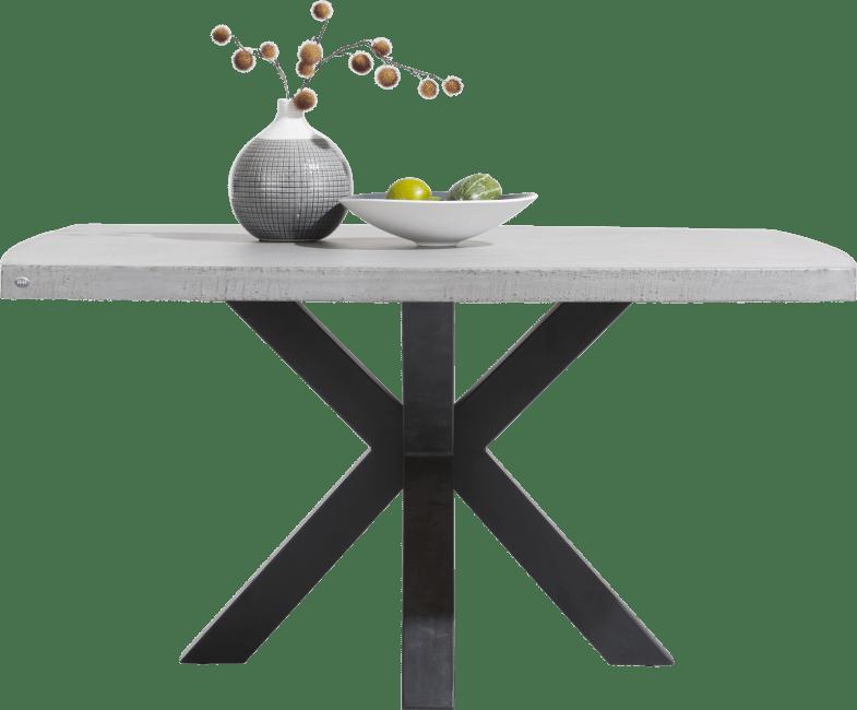 Maestro - eetkamertafel 150 x 150 cm - beton blad
