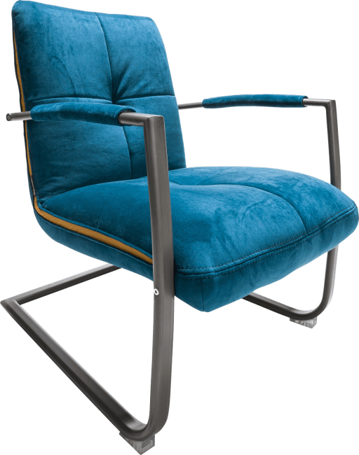 Margrit - fauteuil met frame in rvs of zwart