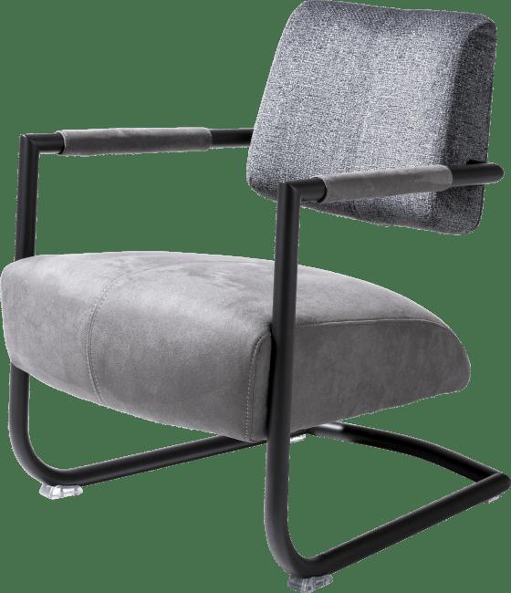 Zane - fauteuil cadre metal noir + combi kibo/fantasy