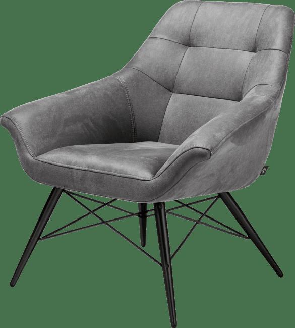 Ravenna - sessel schwarz gestell + stoff kibo