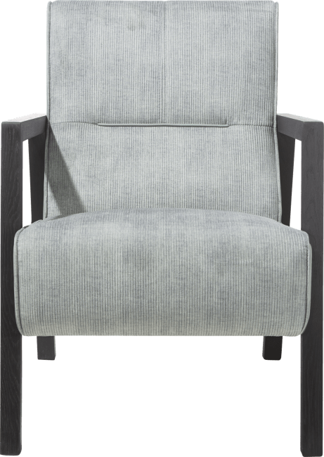 Bueno - fauteuil met houten arm vintage clay / white / black