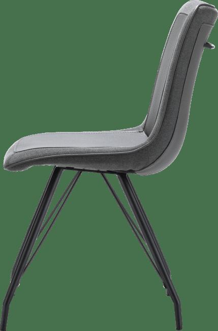 Jax - chaise - cadre metal noir - combi tatra/blues