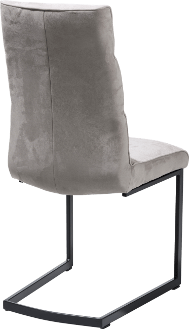 Jasmin - chaise pied traineau metal noir