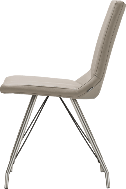Artella - chaise pietement eiffel inox