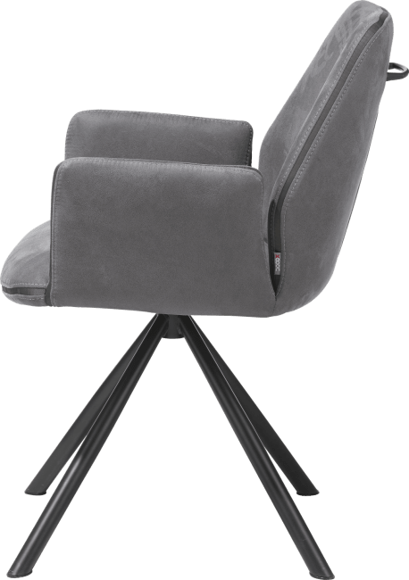 Kane - armstoel - poedercoat zwart frame - kibo
