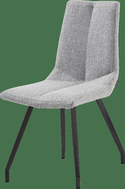 Artella - chaise noir 4 pieds - forli gris clair