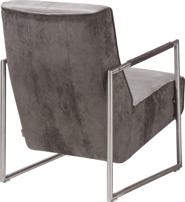 Bilto - easy chair with stainless steel armrest