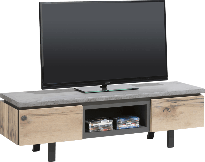 Myland - meuble tv 180 cm - 1-tiroir + 1-porte rabattante + 1-niche