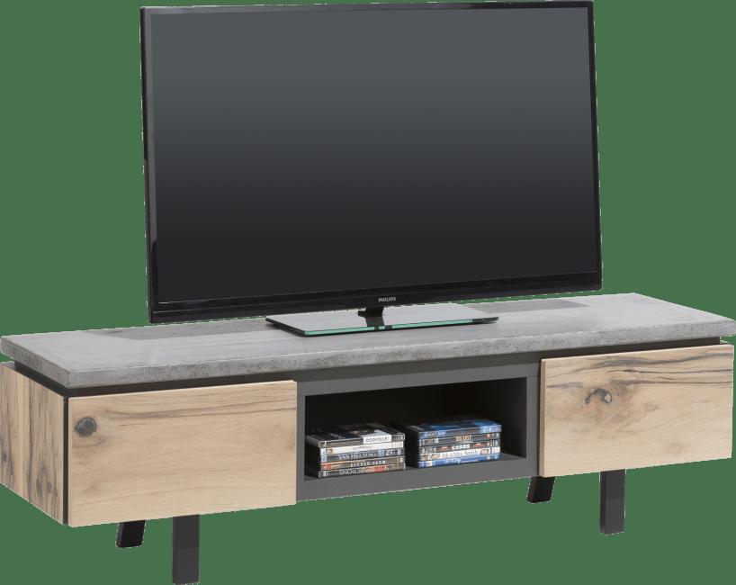 Myland - meuble tv 150 cm - 1-tiroir + 1-porte rabattante + 1-niche