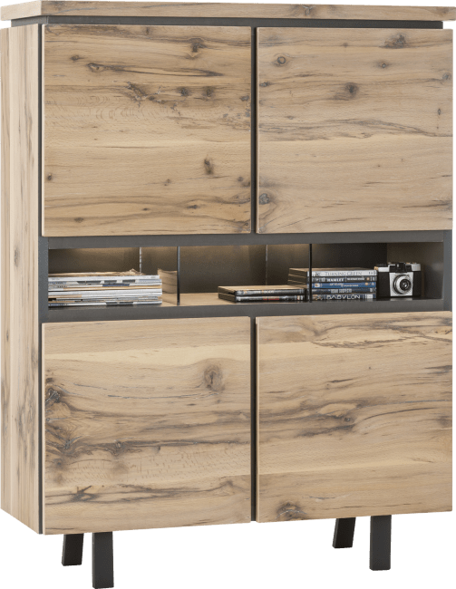 Myland - highboard 110 cm - 4-portes + 3-niches - (+ led)