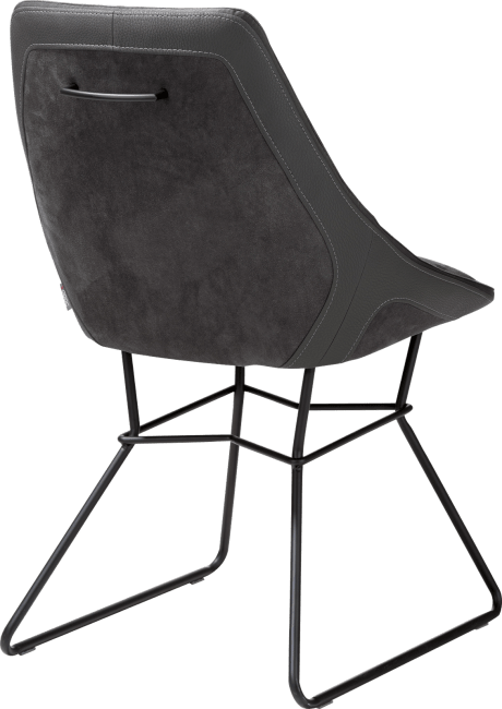 Aiden - chaise - pieds poudres noir - combinaison calabria/tatra