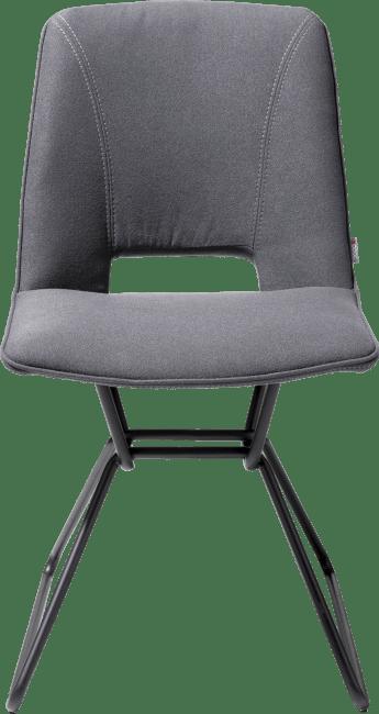 Matiz - eetkamerstoel + gat in rug - zwart frame - stof lana