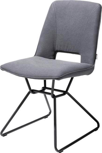 Matiz - chaise - cadre noir - tissu lana
