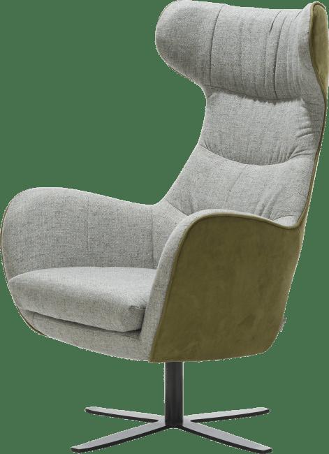 Flaremont - fauteuil - voet in zwart metaal