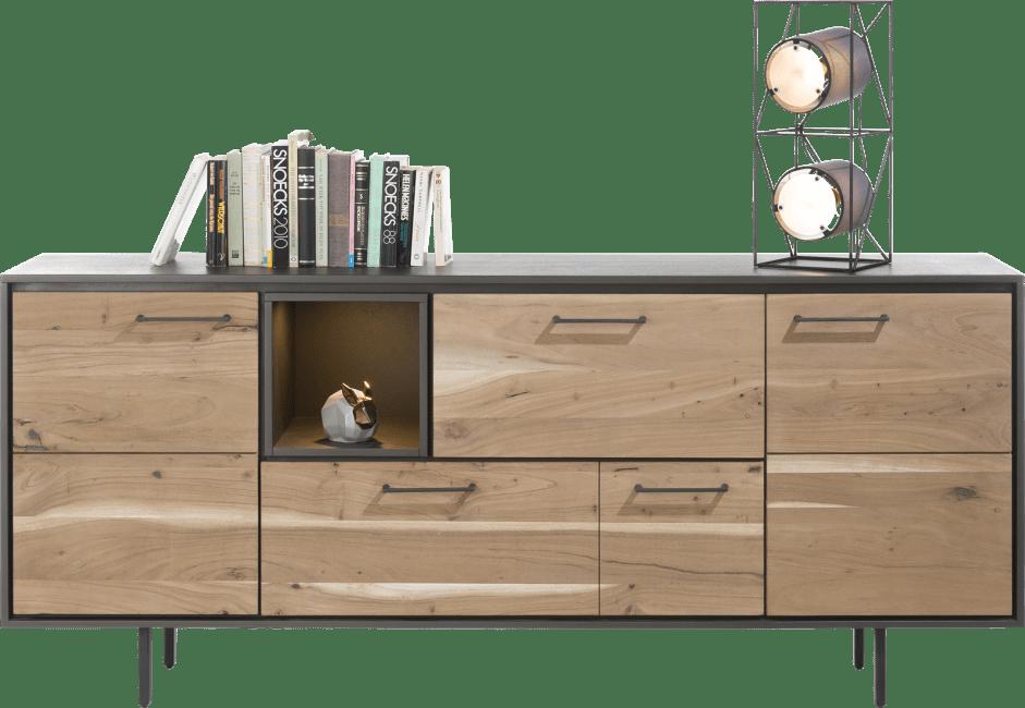 Cenon - dressoir 190 cm - 2-deuren + 2-laden + 1-niche (+ led)