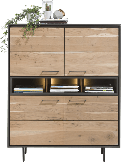 Cenon - highboard 4-portes + 3-niches (+ led)