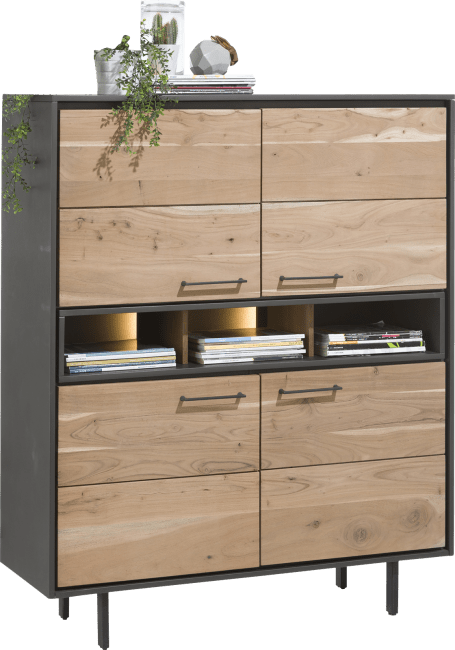Cenon - highboard 4-deuren + 3-niches (+ led)