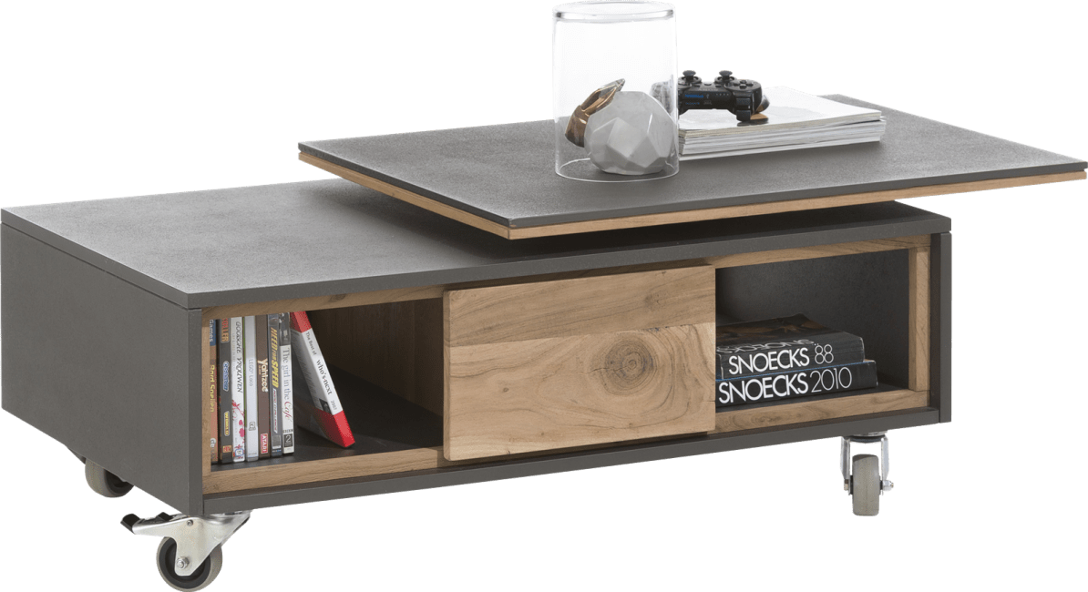 Cenon - salontafel 100 x 60 cm + 2-niches met daaiende top