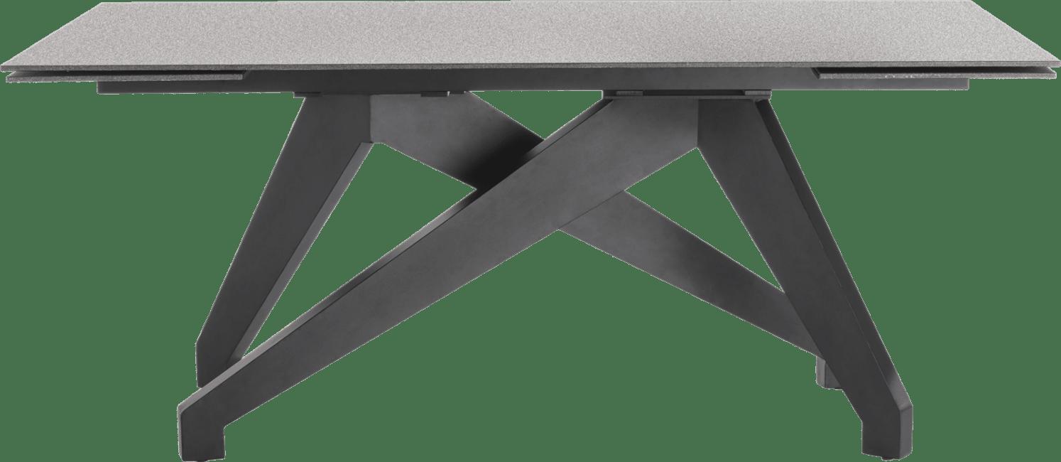 Enzo - tisch (+ 2 x 40) x 100 cm - lava anthrazit