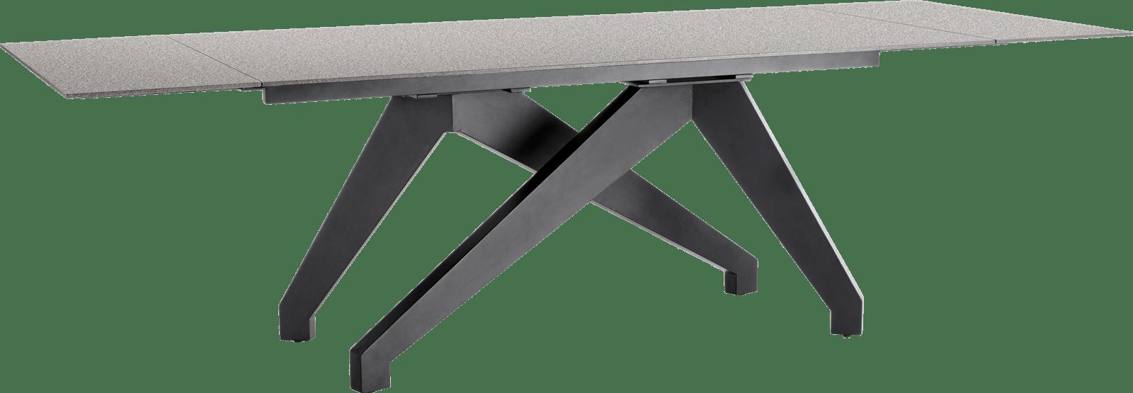 Enzo - uitschuiftafel 180 (+ 2 x 40) x 100 cm - lava antraciet