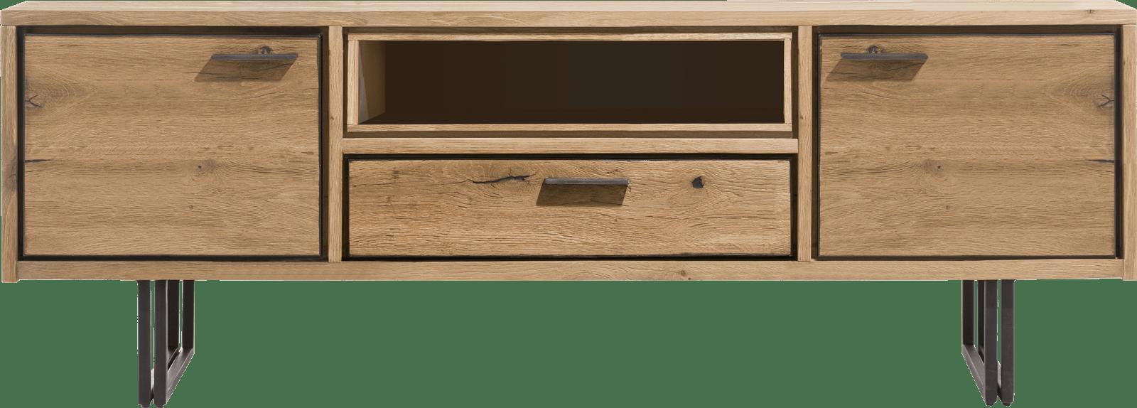 Denmark - lowboard 170 cm - 2-deuren + 1-lade + 1-niche (+led)
