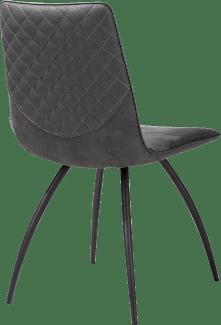 Milo - stuhl - 4-fuesse gebogen - schwarz - mit stichnaht