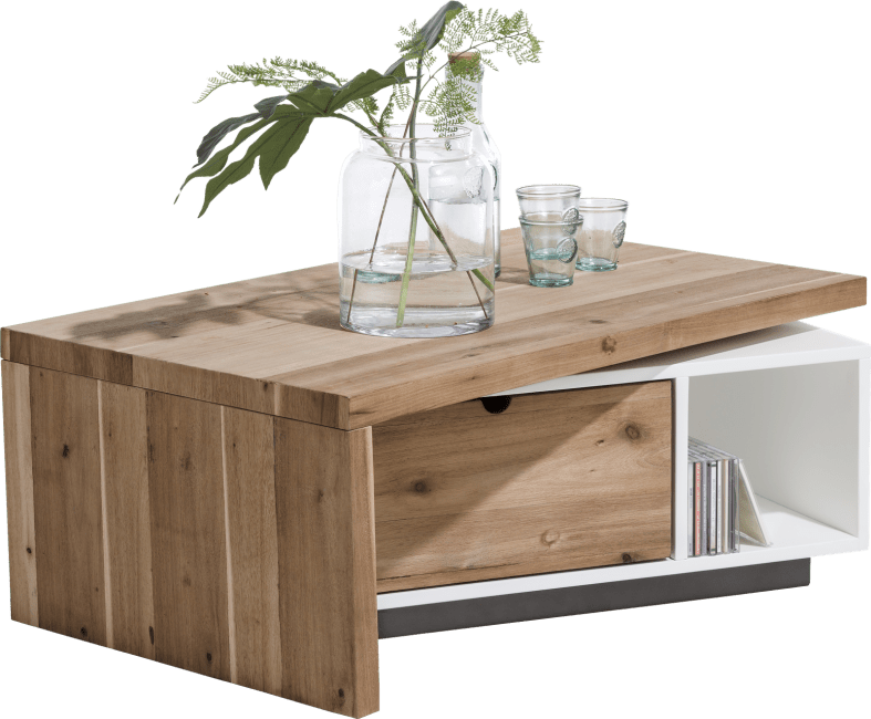 Otta - salontafel 120 x 60 cm + 1-lade t&t + 1-niche + draaibare top