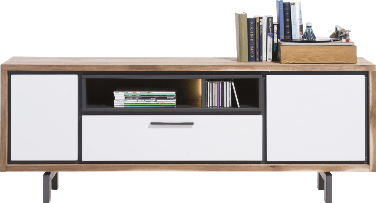 Otta - lowboard 170 cm - 2-portes + 1-tiroir + 2-niches (+ led)