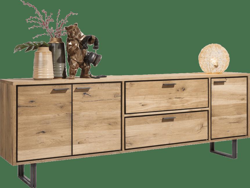 Denmark - sideboard 240 cm - 3-doors + 2-drawers