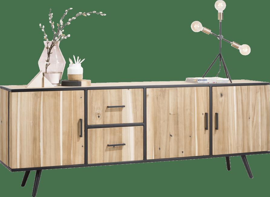 Kinna - dressoir 220 cm - 3-deuren + 2-laden